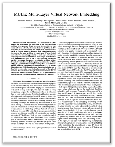 Multi-Layer Virtual Network Embedding paper