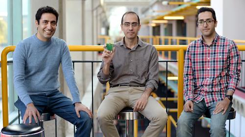 photo of Professor Omid Abari , Mohammad Mazaheri and Ali Abedi