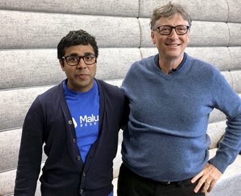 photo of Sam Pasupalak and Bill Gates