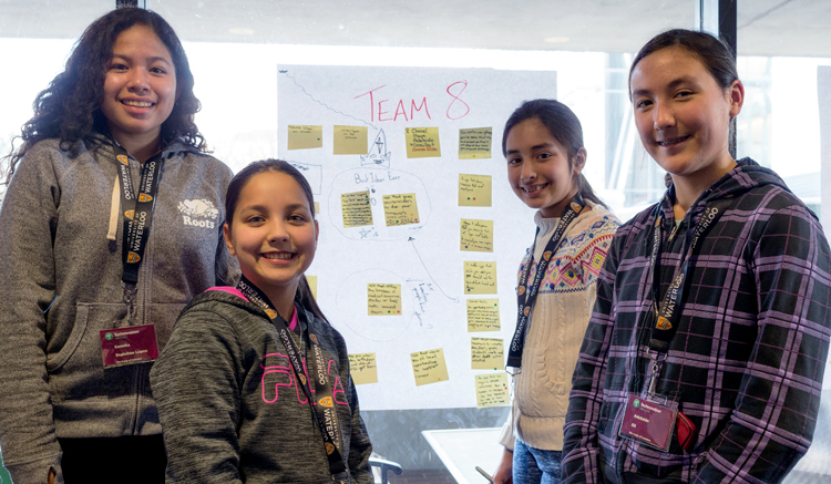 image of team 8 at Technovation launch