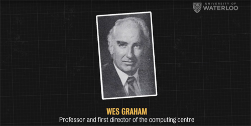 Screen grab of Wes Graham, Waterloo's father of computing
