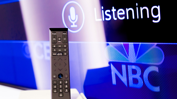 image of intelligent listening TV remote