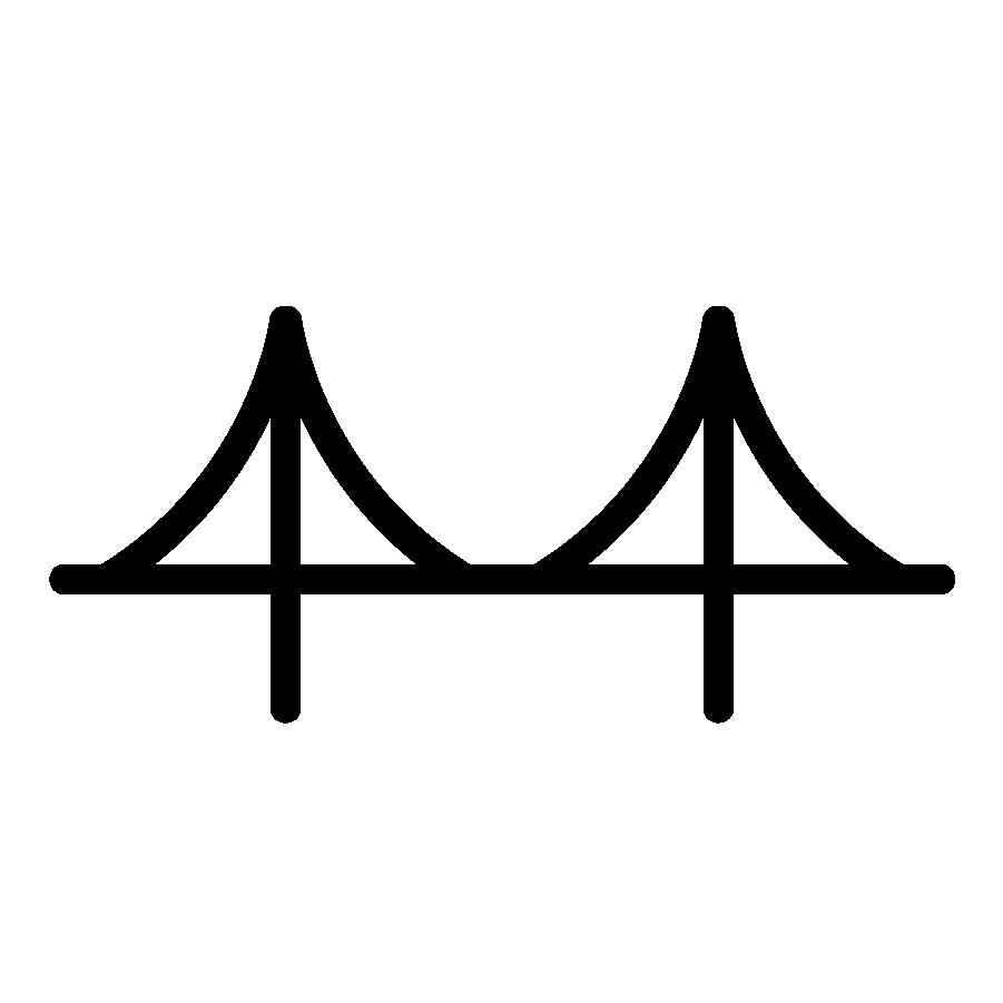 Icon of a bridge