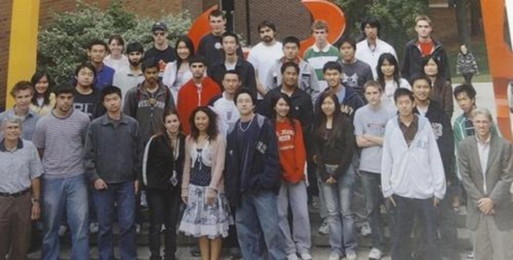 Group photo of the first set of CFM students in 2006