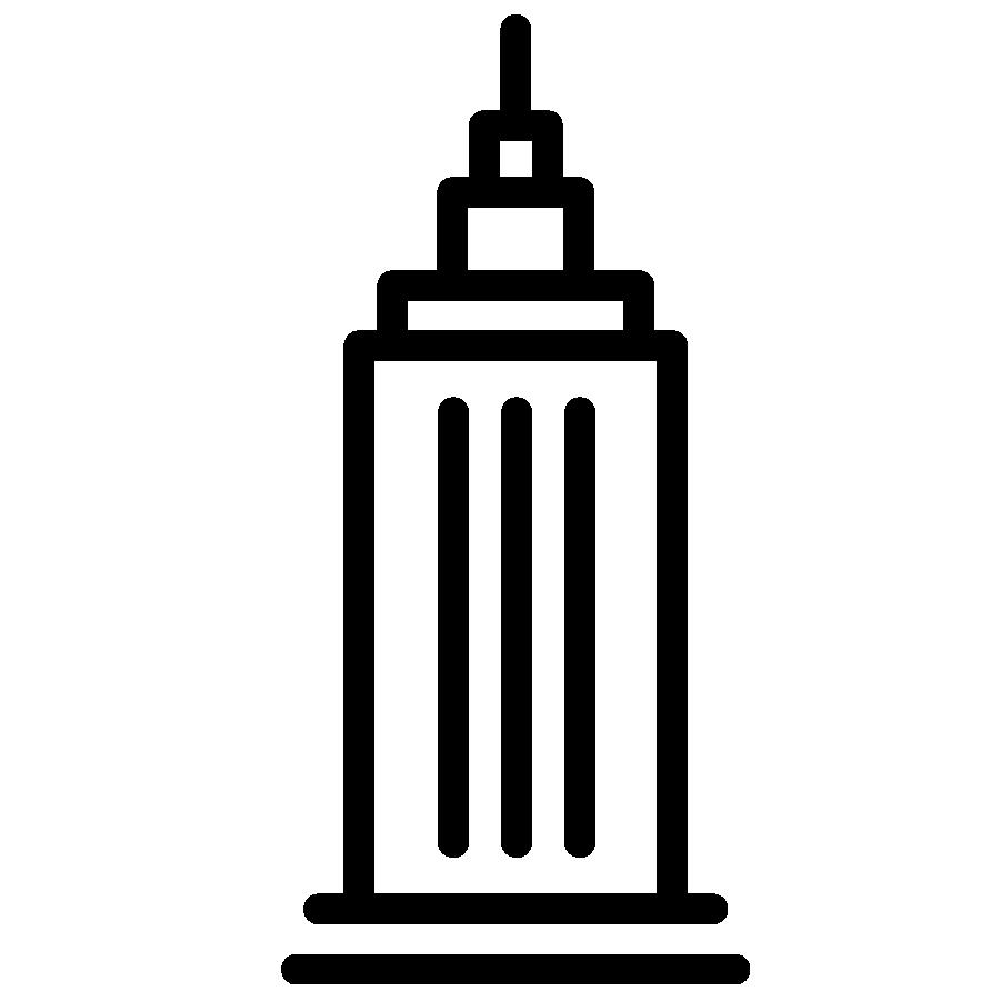 Icon of a skyscraper