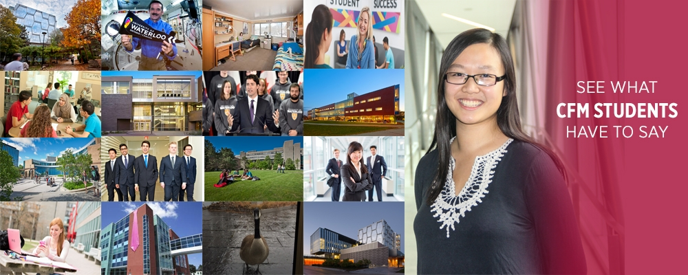 CFM student, Linna, and photos of campus