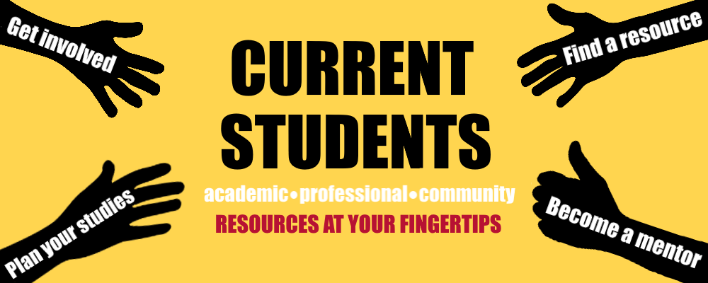 Current sudents can find academic, professional and community resources at their fingertips