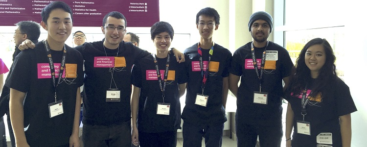 Computing and Financial Management Fall Open House student volunteers.