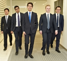 SAF's winning students of CFA Institue Research Challenge