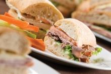 Close up of sandwich buns