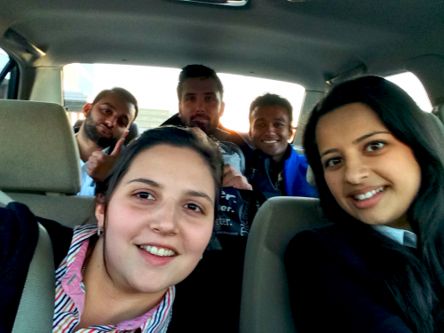 MBET students in a car