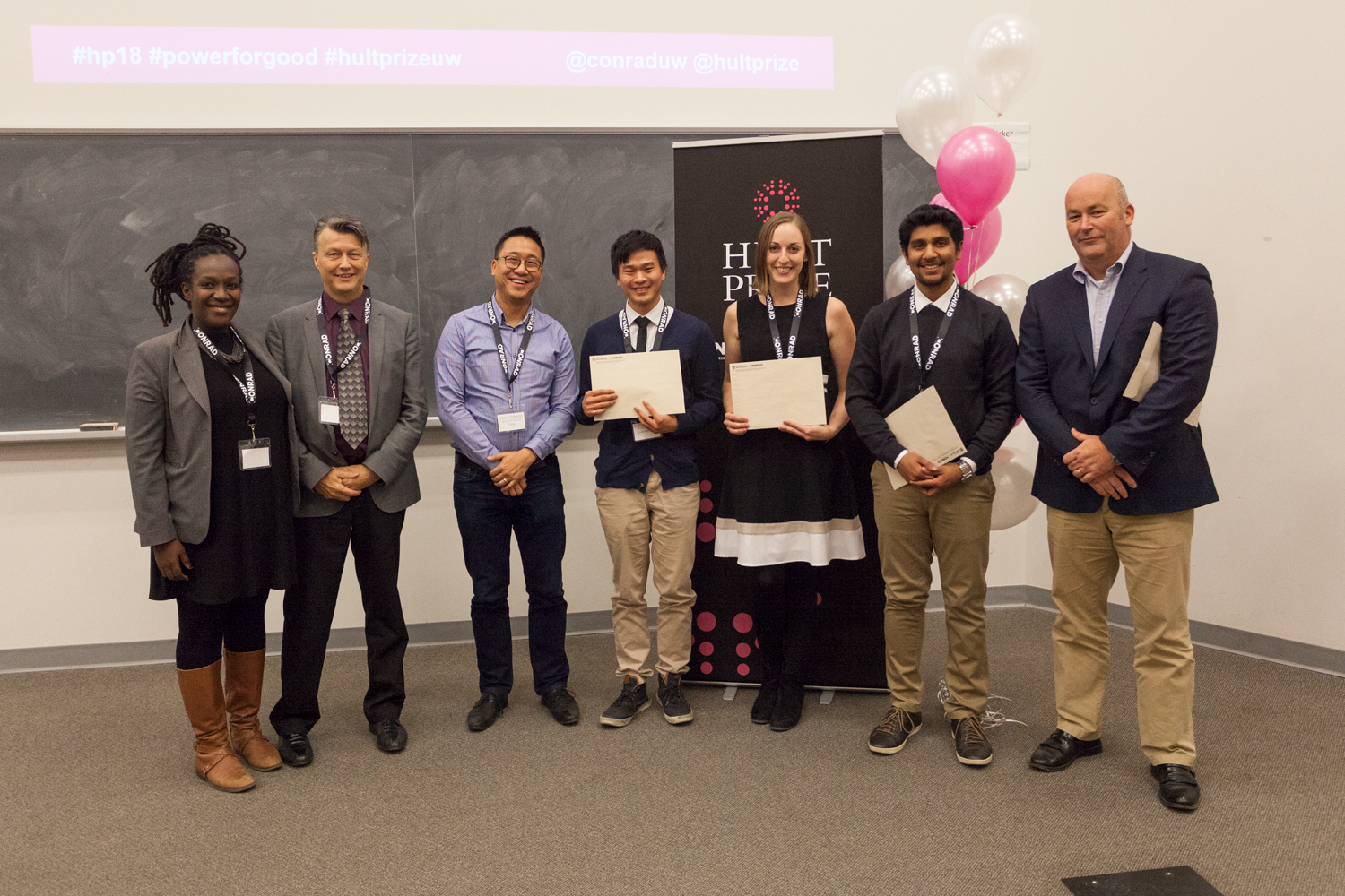 Team Catalight wins first prize at the Hult Prize UWaterloo Finals