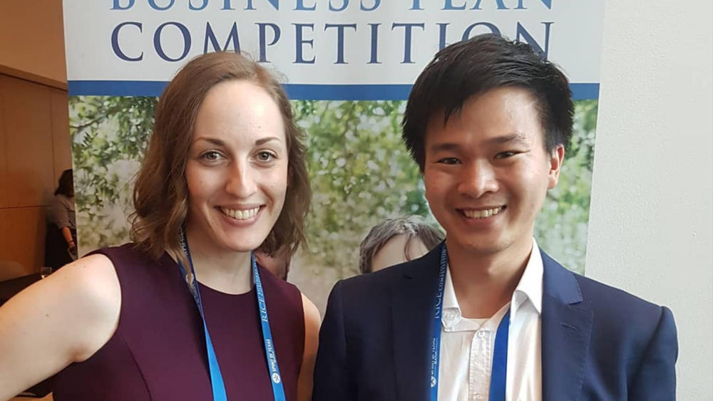 CataLight Co-Founders Ashley Keefner and Kevin Dang