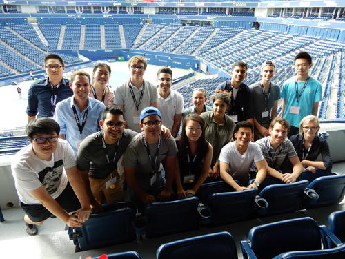 Students at Rogers Cup
