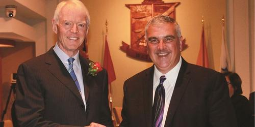 Howard Armitage with Waterloo Mayor
