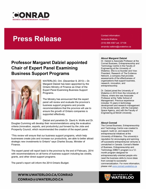 Conrad Faculty Member Named Chair Of Expert Panel Conrad School Of