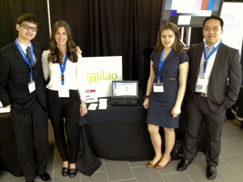 Milao team at the LaunchPad event.