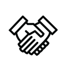 relationship icon - two hands shaking hands