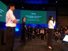 Moola pitching at Manulife Smart Tech Challenge