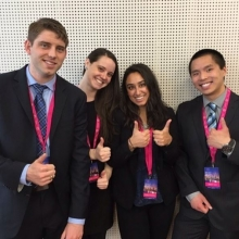 The team after their pitch at Hult