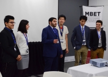 Students pitching in the Conrad Innovation Challenge
