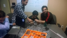 Team working together with lego