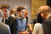 Students networking at a Conrad event