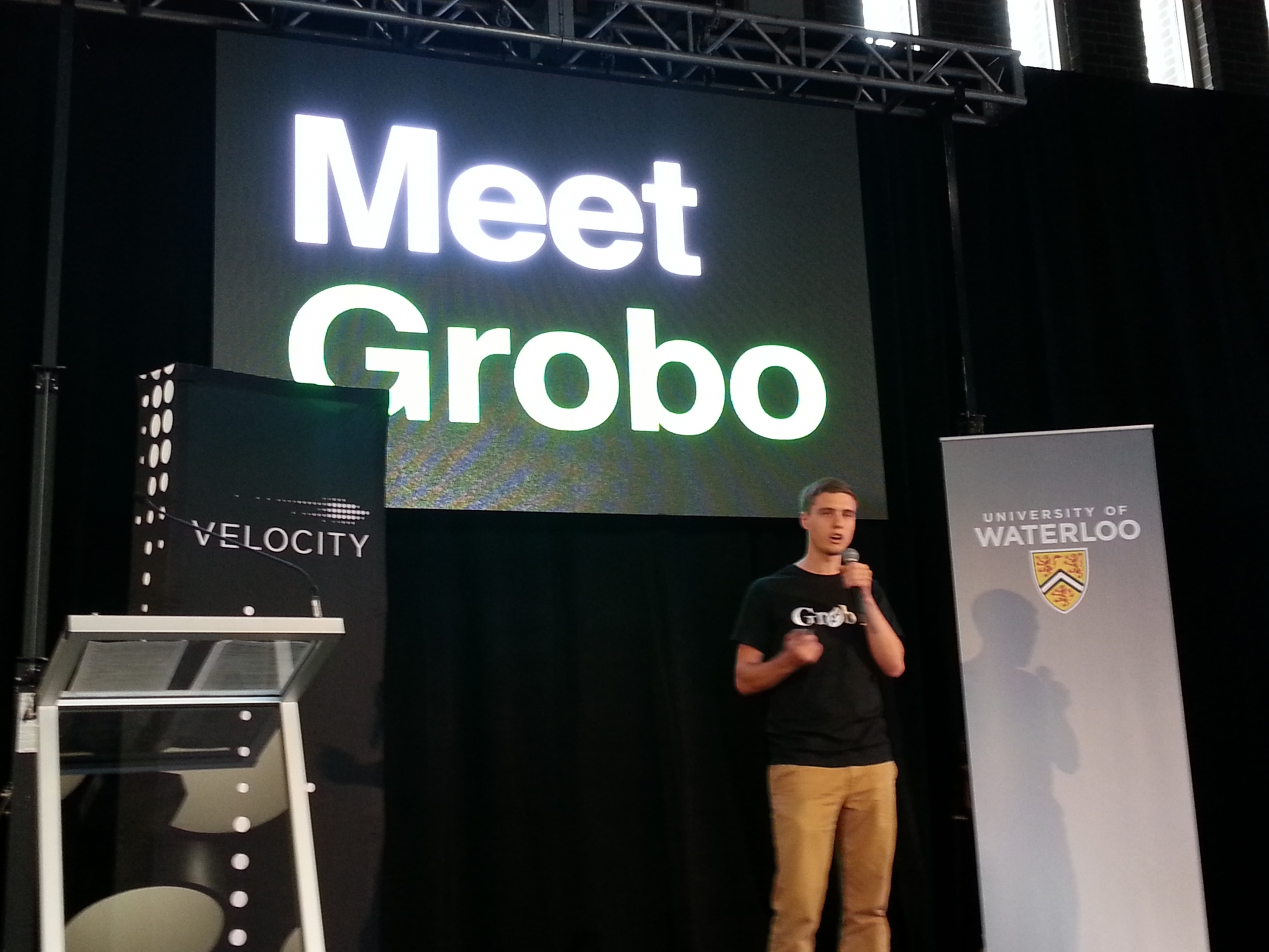 Bjorn Dawson pitching Grobo at VFF Spring 2014