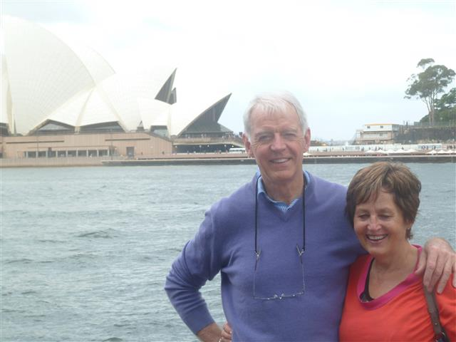 Howard and Phyllis in Australia