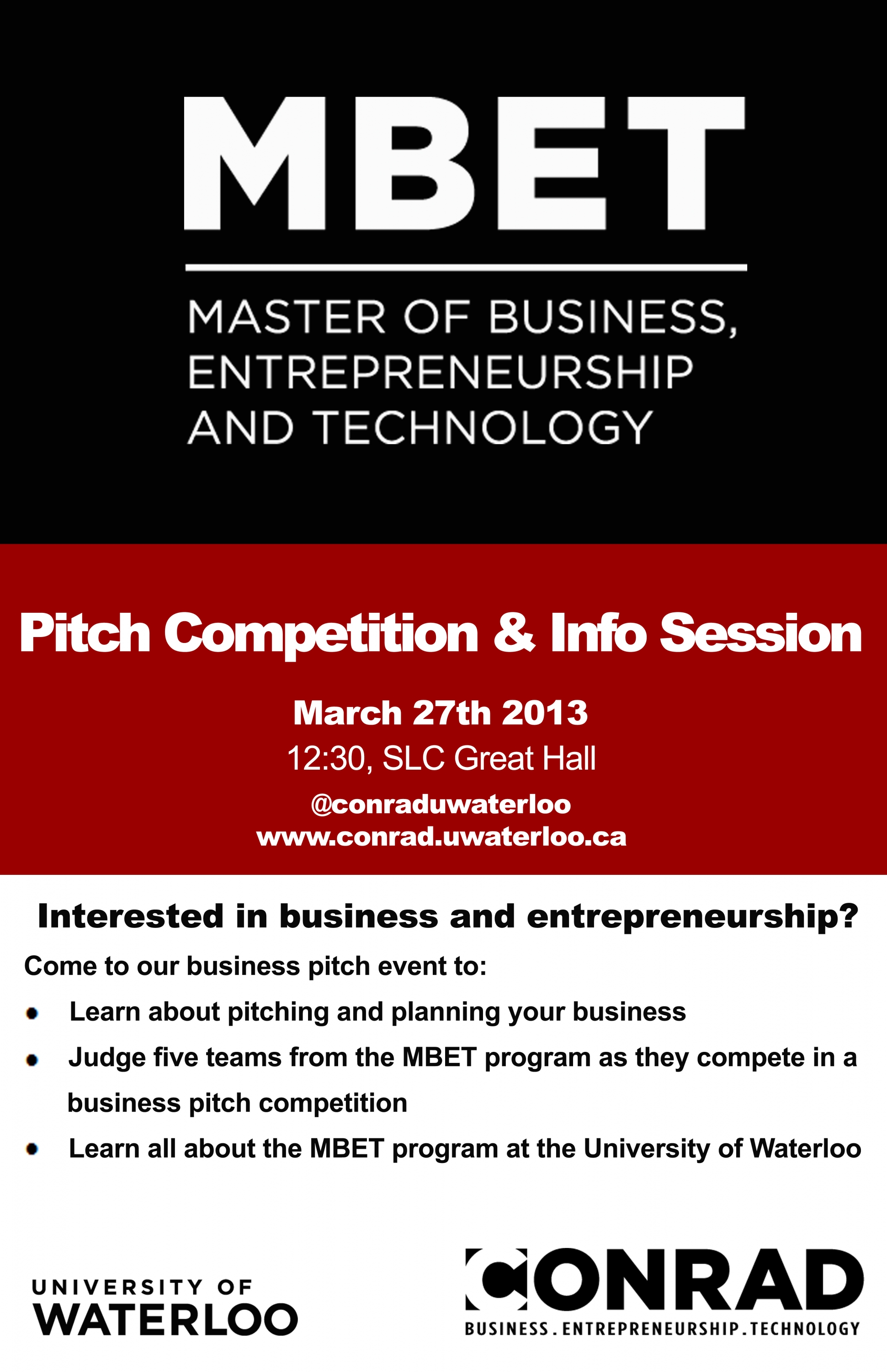 pitch demo and info session poster