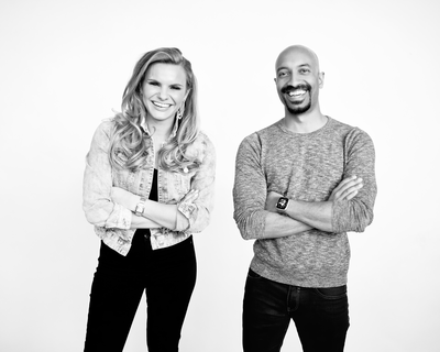 Andrew D'Souza and Michele Romanow