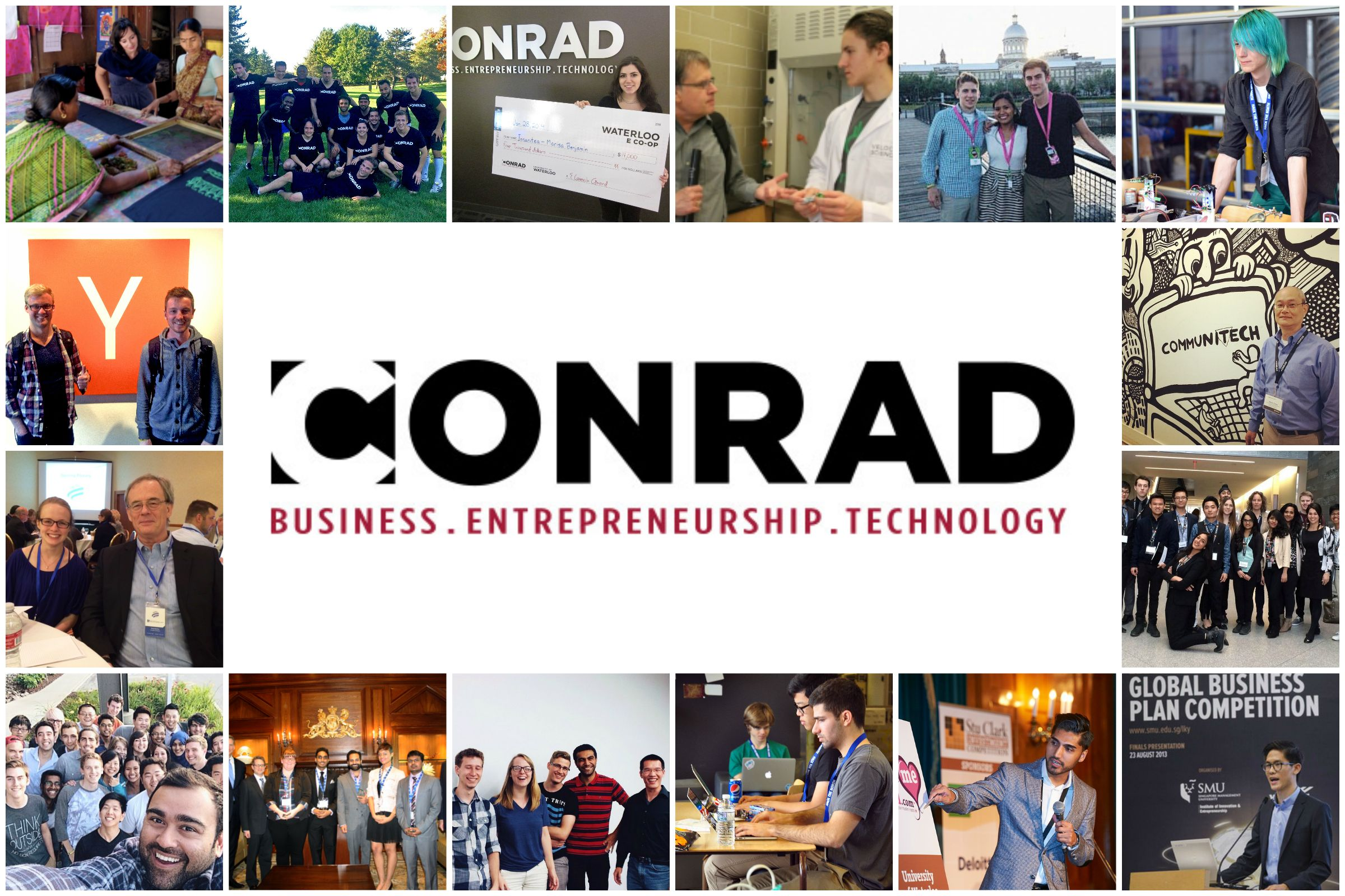 Collage of Conrad photos from 2014