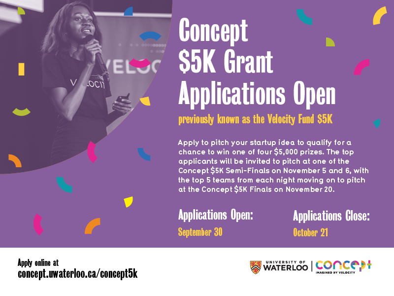 Concept $5k grant application flyer