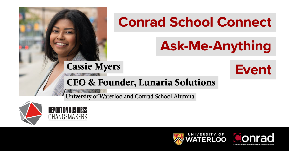 Conrad School Connect, Ask-Me-Anything event with Cassie Myers