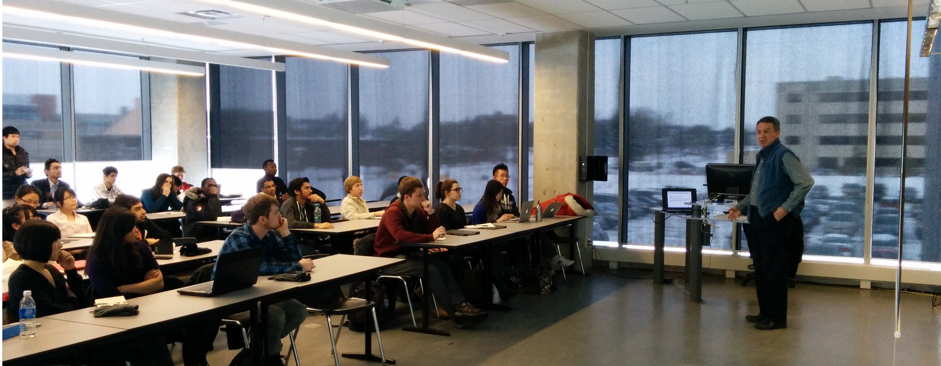 Kevin Hood talked to BETS and E Co-op students about marketing and sales during Ignition Week.