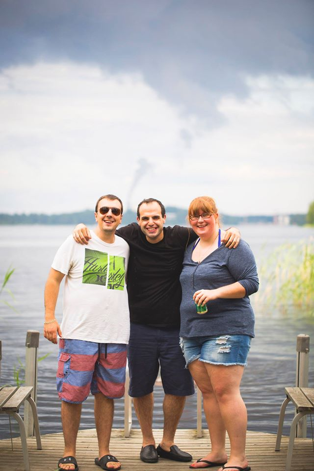 MBET students Tyler Iorio, Hussam Ayyad, and Shanae Vander Togt in Finland