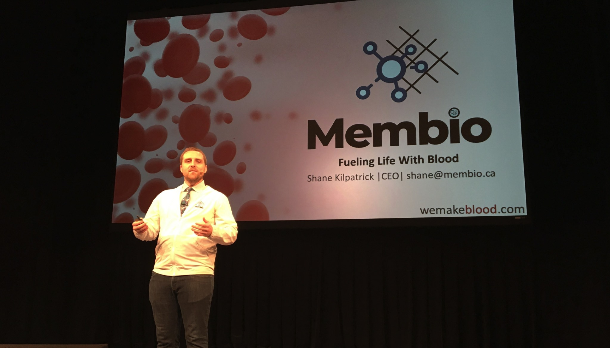 Shane Kilpatrick (MSc '17, MBET '18) is the CEO of Membio