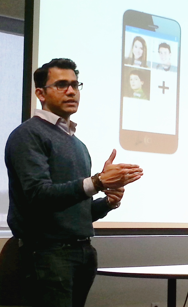 Mrinay Nair during a BET 604 presentation for Ohzone.