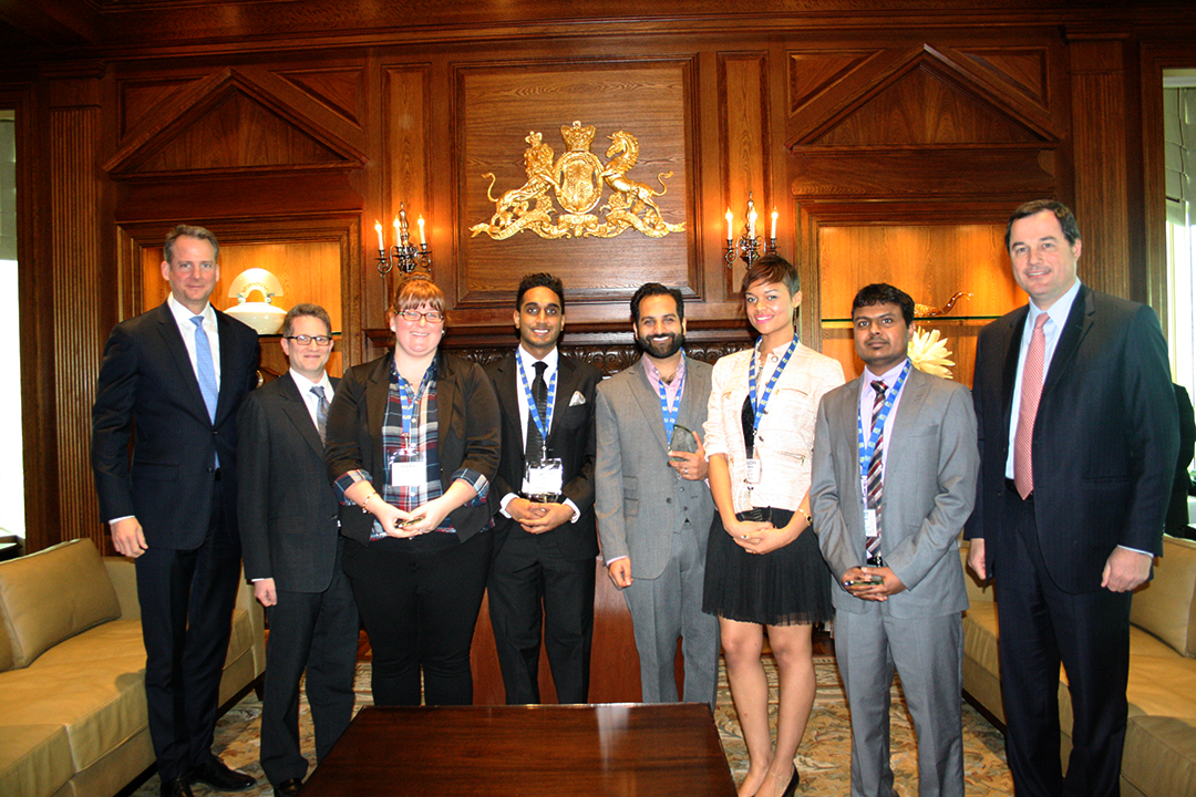 RBC+ team of MBET students with RBC executives