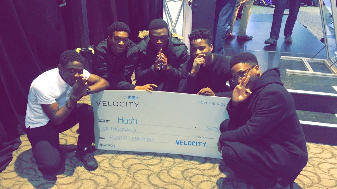 Sefunmi and his team at the Velocity Fund Finals