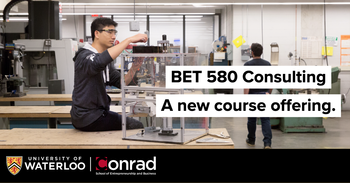 BET 580 Consulting. A new course offering.