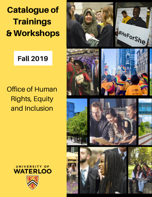Catalogue cover for Human Rights, Equity and Inclusion workshops