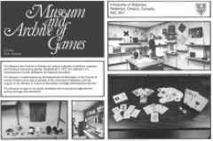 A brochure from the Museum and Archive of Games.