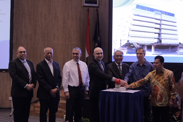 Representatives from the University of Waterloo, Indonesian universities and government officially launch a co-op office.