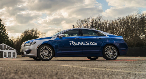 The Renesas Electronics autonomous vehicle.