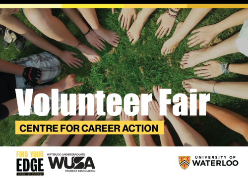 Volunteer Fair banner.