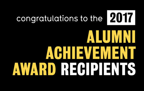 2017 Alumni Achievement Award Recipients banner.