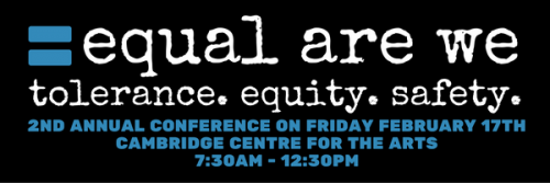 Equal Are We conference logo with an equal sign.