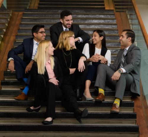 Adnan Khan (Arts), Natalya O'Neill (Science), Baraa Hamodi (Engineering), Regan Zink (Environment), Pearl Zaki (Applied Health Sciences) and Alister D'Costa (Mathematics) received the 2016 University of Waterloo Co-op Student of the Year Award.