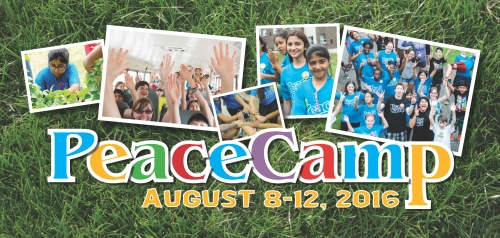 A collage of camp images and the date - August 8 to 12, 2016.